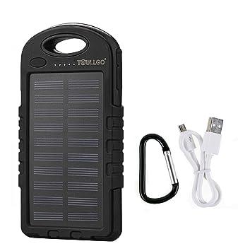 Cargador Solar de 10000 mAh Batería Solar Externa Portátil Solar Power Bank Solar Charger ToullGo® Cargador de emergencia impermeable a prueba de ...