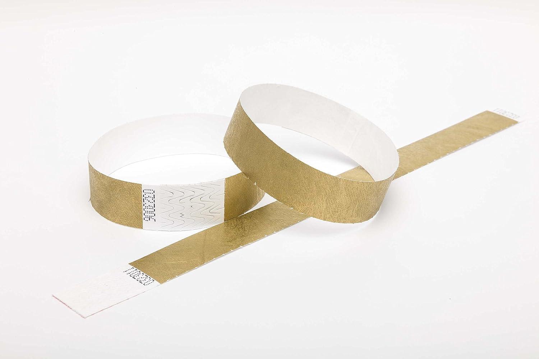 Gold, 19mm verschiedene Farben w/ählbar 1.000er Pack Secureb/änder Tyvek 19mm und 25mm