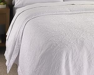 "Hampton Hotel White Jacquard Duvet Cover - Queen - 98"" x 98"""