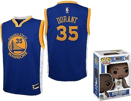 Tomar un baño gene muestra  Amazon.com: Kevin Durant dorado State Warriors # 35, juvenil, con Funko POP  figura, Azul: Sports & Outdoors