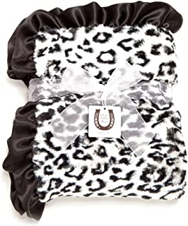 Max Daniel Baby Throw Blanket, Black-White Jaguar by Max Daniel Designs BWJAGT
