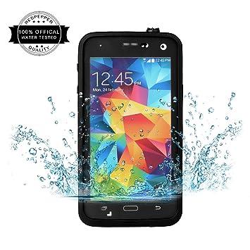 Redpepper Samsung Galaxy S5 Carcasa, IP68 Impermeable Carcasa funda con Protector de Pantalla, anti-agua, anti-polvo, anti-salpicadura, anti-impacto ...