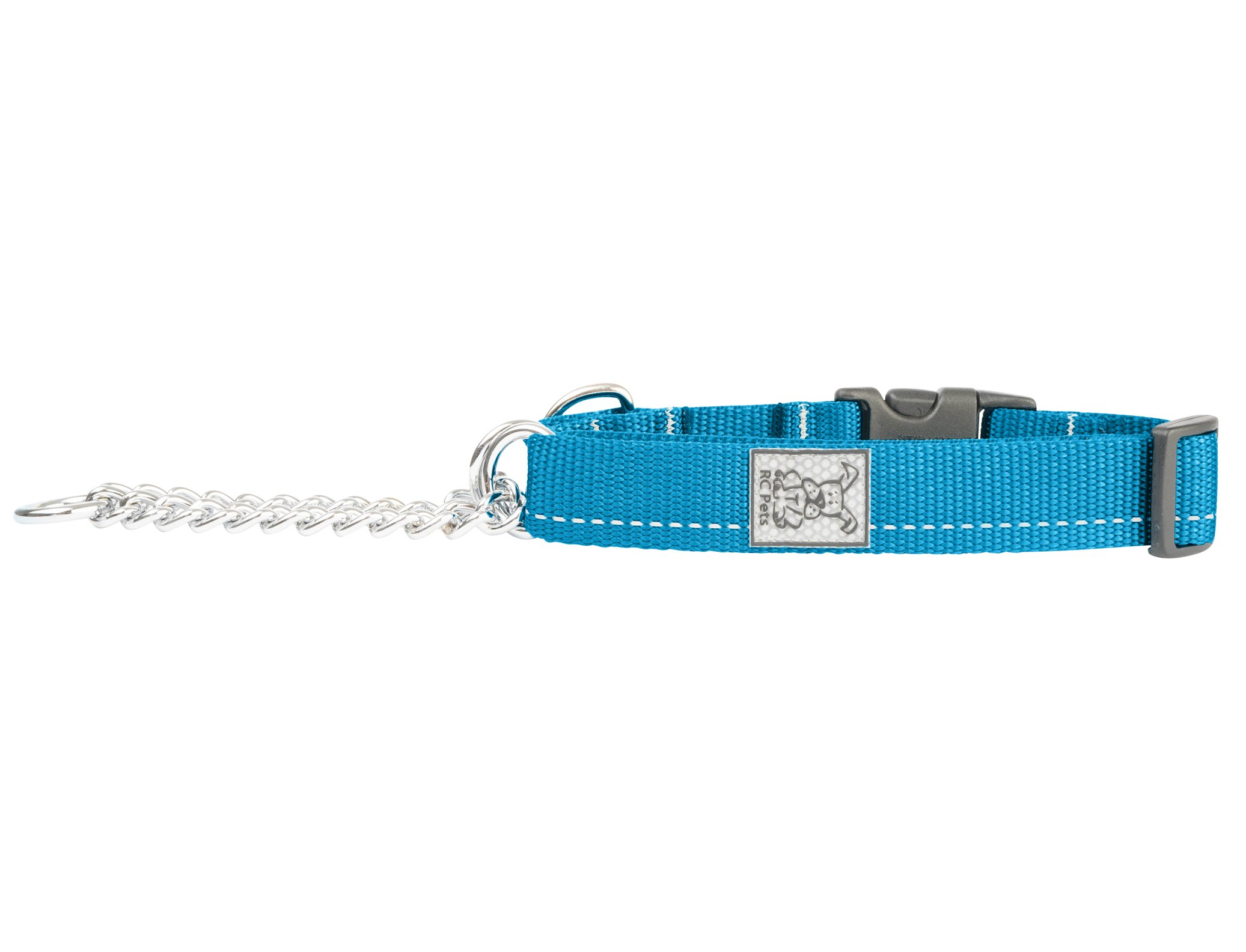 RC Pet Products 3/4'' Primary Collection Training Clip Dog Collar, Small, Cyan
