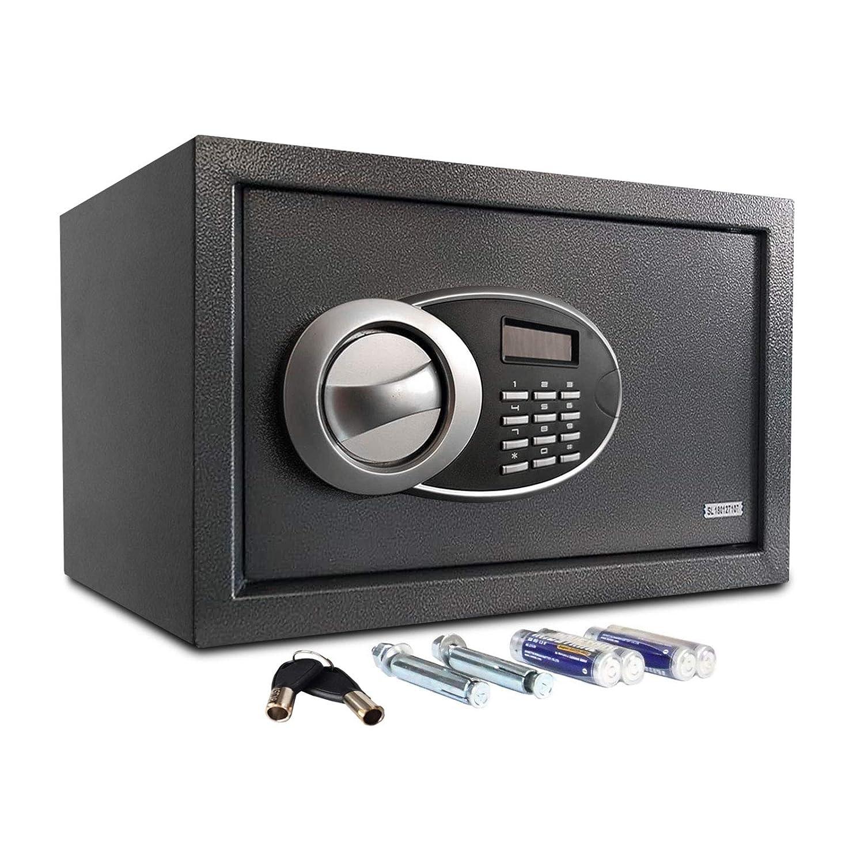 Coffre Fort | Coffre avec Serrure & Affichage Combinaison Electronique | Coffre avec Clef d'Urgence | Encastrable | 25L (23x40x35)