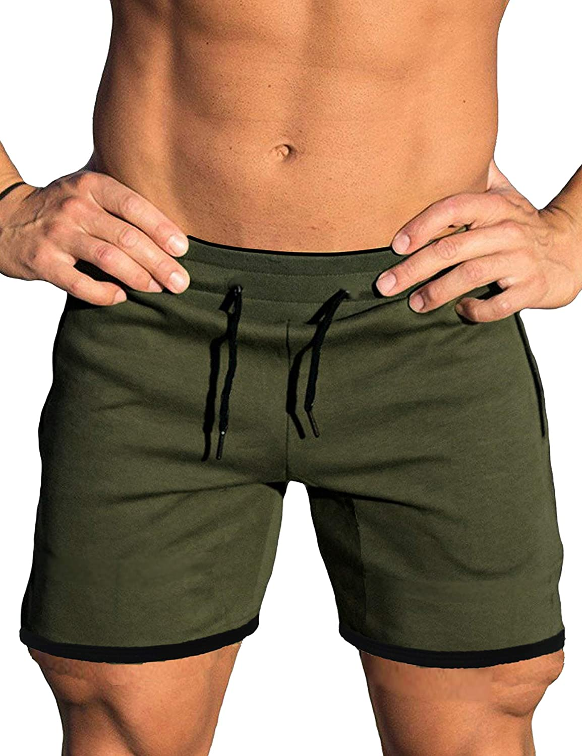 COOFANDY Mens Gym Workout Shorts Running Short Pants Fitted Training Bodybuilding Jogger with Pockets