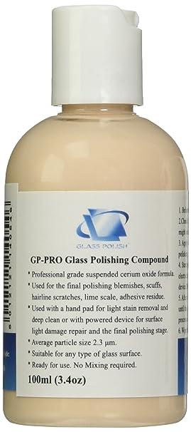 Glass Polish-Pasta de Pulir para Cristales Granular (Óxido de Cerio) Muy Concentrada, 100 Ml