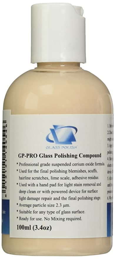 Glass Polish-Pasta de Pulir Para Cristales Granular (Óxido de Cerio) Muy Concentrada