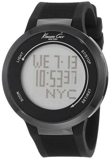 Kenneth Cole KC1776 - Reloj digital de cuarzo para hombre con correa de piel, color negro: Kenneth Cole: Amazon.es: Relojes