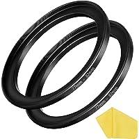 77mm-82mm Step Up Ring [77mm Lens to 82mm Filter] 2 Pack, WH1916 Camera Lens Filter Adapter Ring Lens Converter…