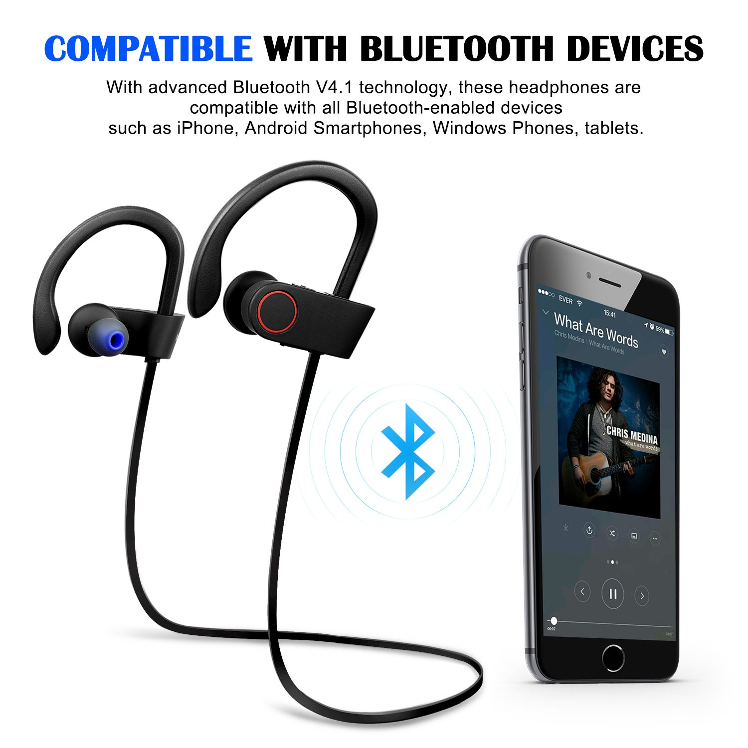 Zip Up Headphones Amazoncom Bluetooth Headphones Bestfy Wireless Stereo Earbuds