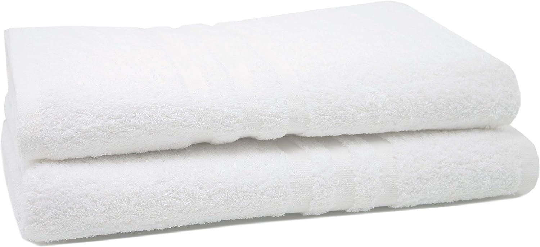 ZOLLNER 2 Toallas de baño Blancas, 550 Gramos, 70x140 cm: Amazon ...