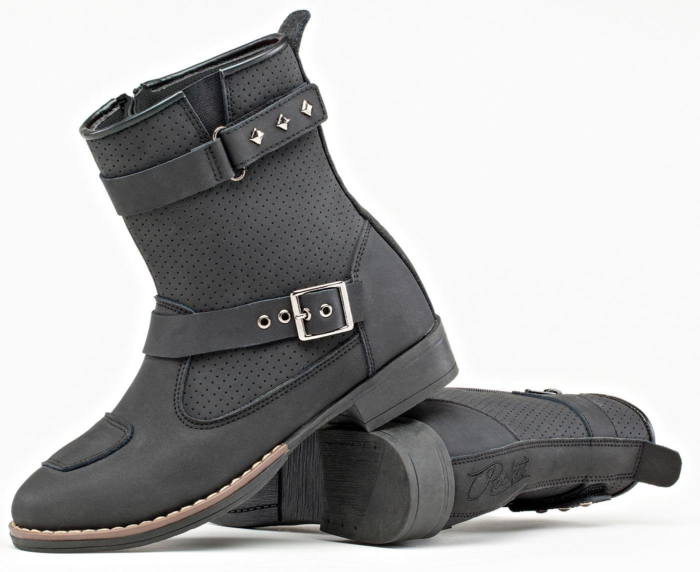 Joe Rocket Moto Adira Ladies Womens Leather Riding Boots Black SZ 12