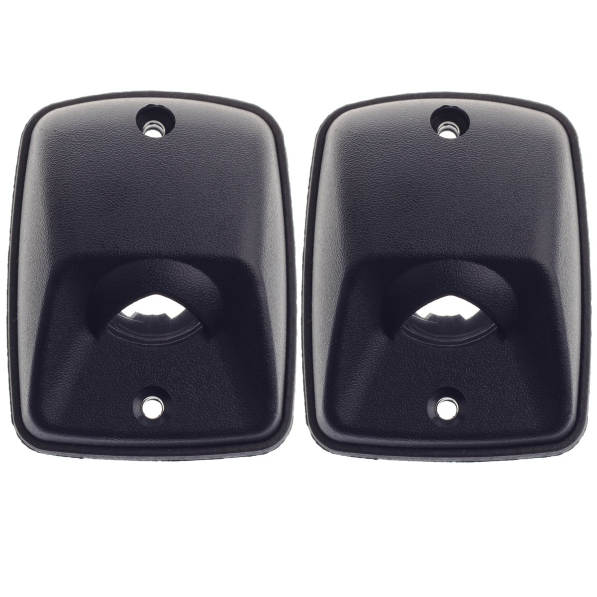 Pack of 2 HERCOO License Plate Lights Lamp Lens Black Housing Compatible with 1995 1996 1997 1998 1999 2000 2001 2002 2003 2004 Toyota Tacoma Pickup Truck Rear Step Bumper Aftermarket Replacement