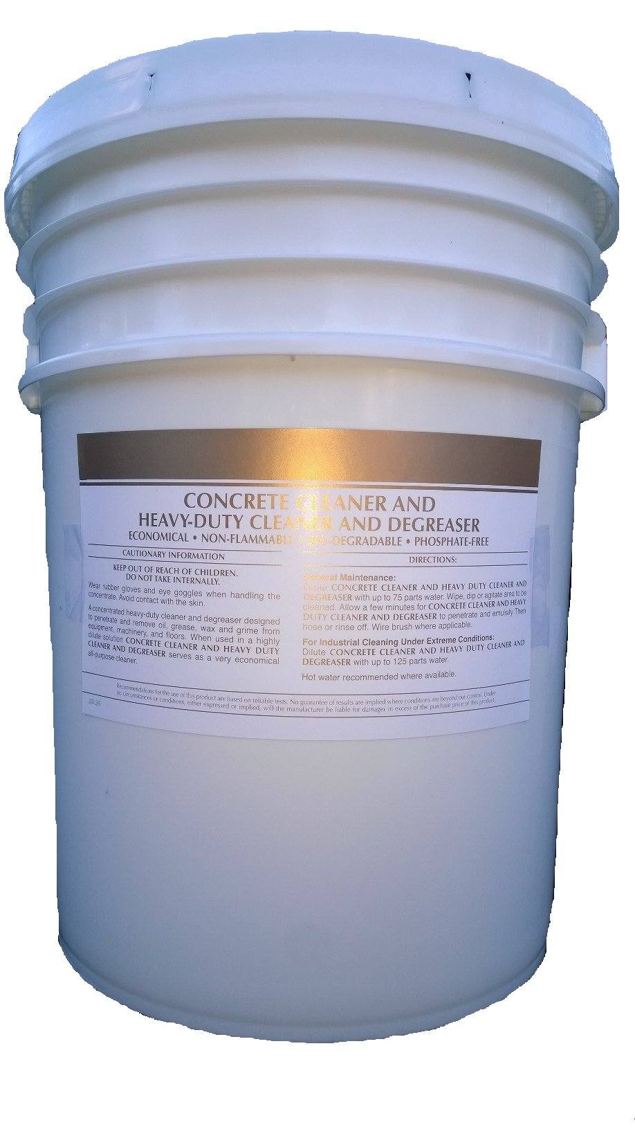Patriot Chemical Sales 5 Gallon Pail Concrete Cleaner Degreaser Heavy-duty Industrial Strength Concentrate