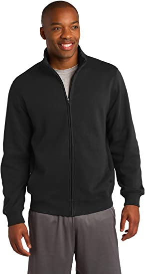 Sport-Tek Mens Full-Zip Sweatshirt Graphite Heather Large