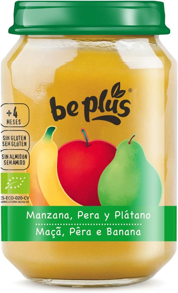 Be Plus - Potito de fruta para bebé (Manzana, Pera y Platano) - 9 unidades: Amazon.es: Alimentación y bebidas