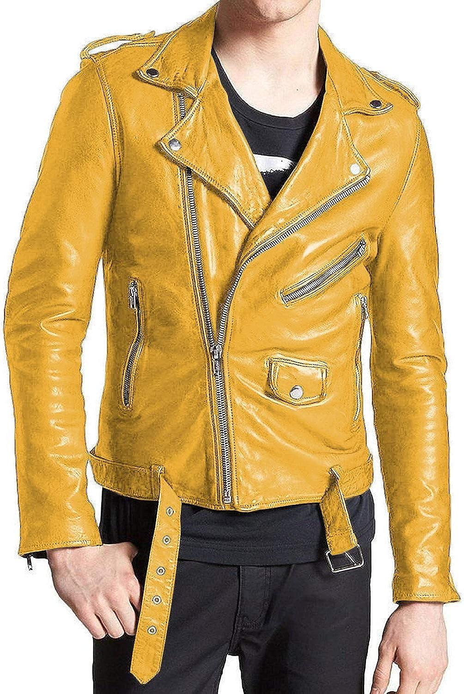 Laverapelle Mens Genuine Lambskin Leather Jacket Black, Double Rider Jacket 1501409