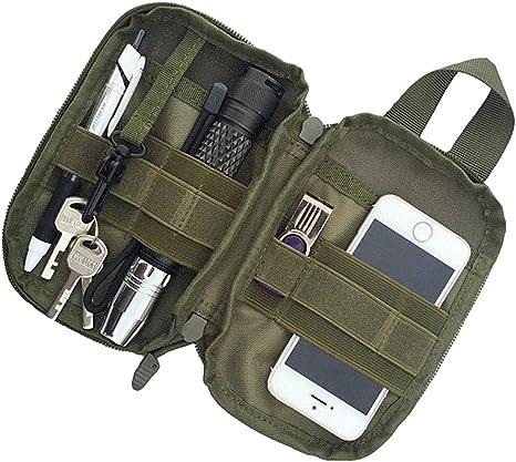 Kyrio Tactical Molle Pouch Nylon Military EDC Small Cintura Pouch Pack Pocket para teléfono Bolsas Deportivas al Aire Libre: Amazon.es: Deportes y aire libre