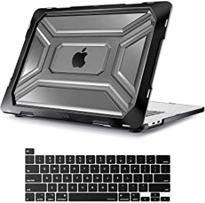 MOSISO MacBook Pro 16 inch Case 2019 Release A2141 with Touch Bar & Touch ID, Heavy Duty Plastic Hard Shell Case with TPU Bumper & Keyboard Cover Only Compatible with MacBook Pro 16 inch, Black