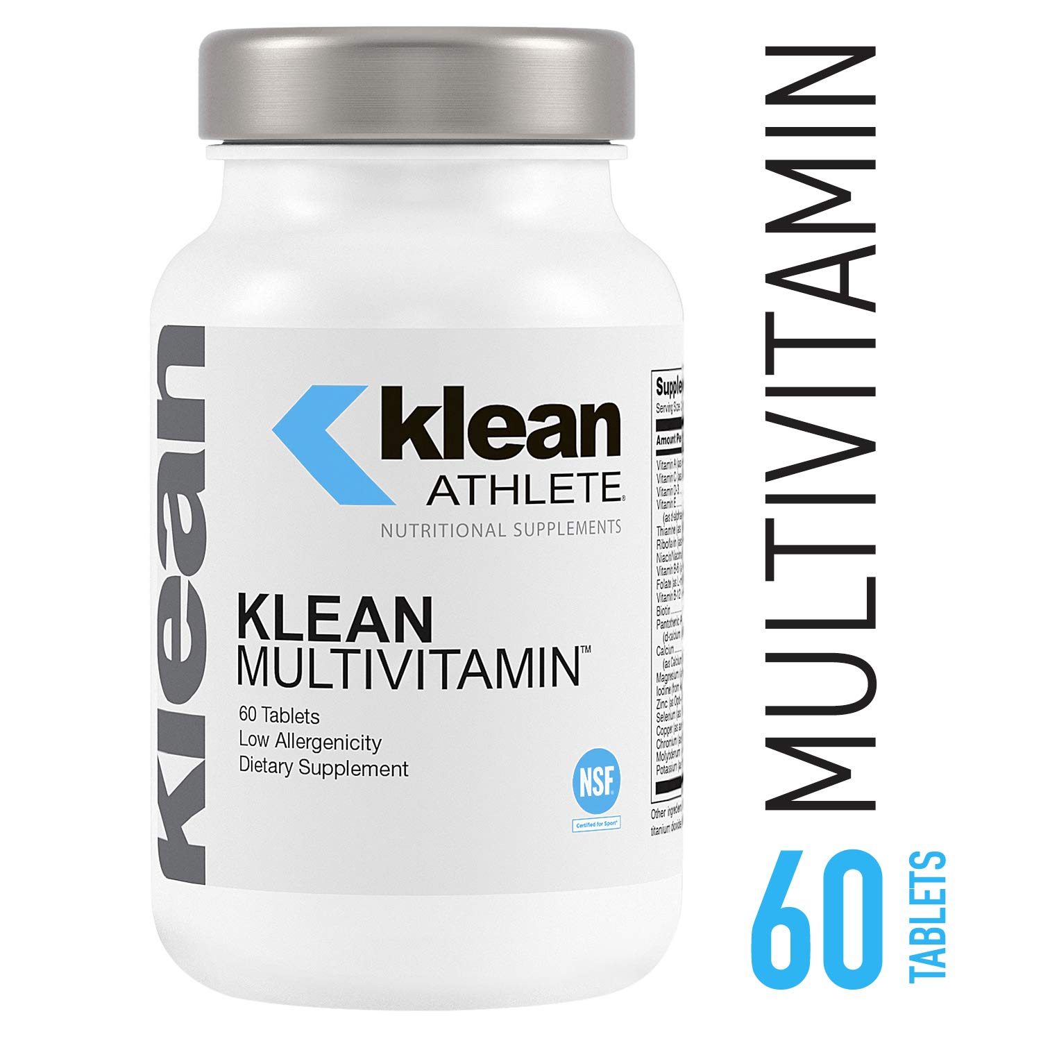 Klean Athlete – Klean Multivitamin – Essential Nutrients and Antioxidants for Optimal Health and Performance* – NSF Certified for Sport – 60 Tablets