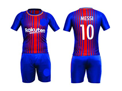 innovative design fed29 378f9 Sportyway Replica Kids Messi 10 FC Barcelona Football Jersey Set - 2017/18  (6-7 yrs, Size 32 Kids)