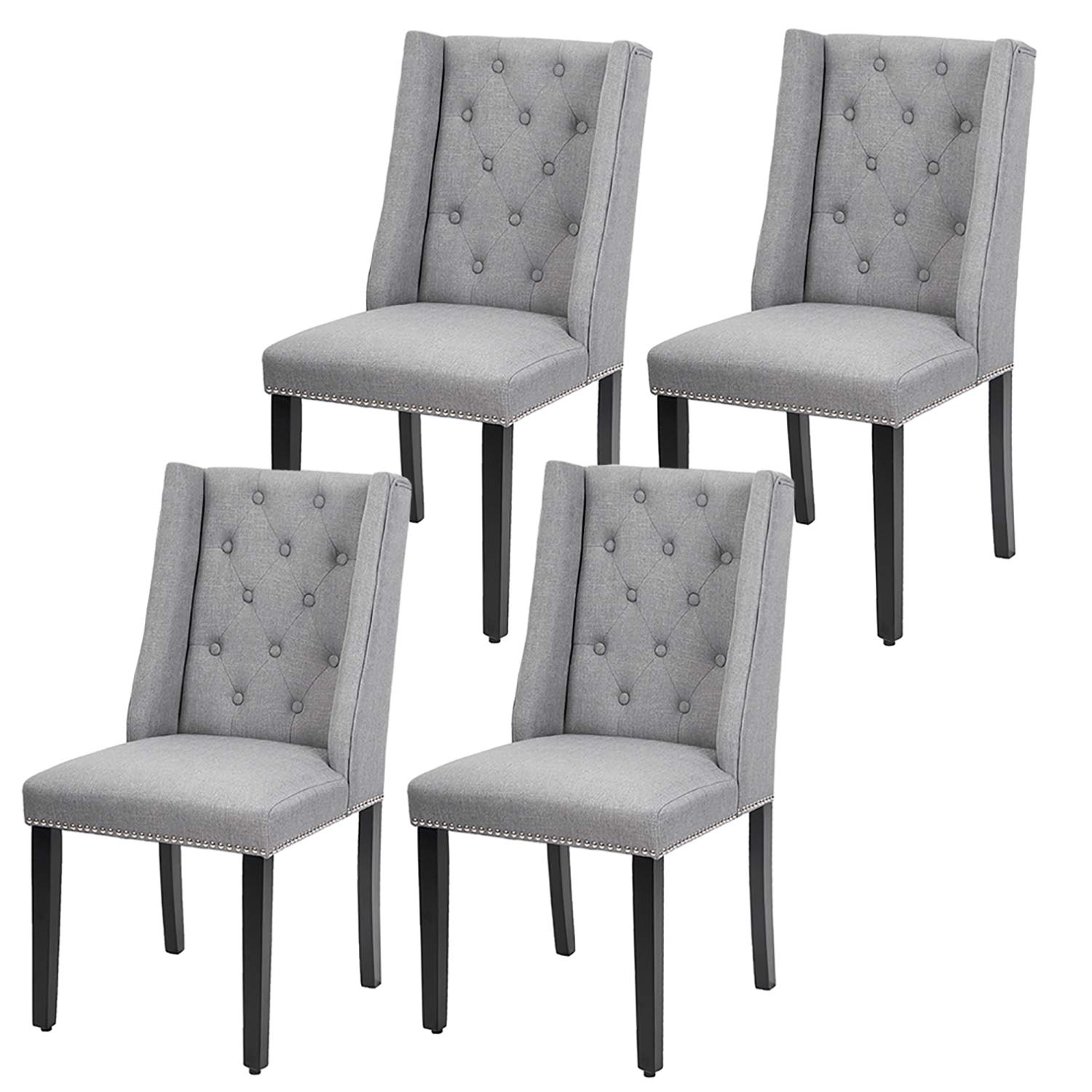 Dining Room Chairs Kitchen Chairs Parsons Dining Chairs (Set of 4) Side Chair for Restaurant Home Kitchen Living Room by FDW (Image #2)