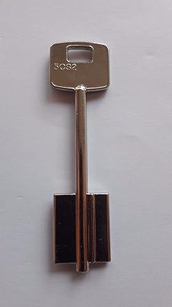 CISA - Lote de 2 llaves de doble punta, color gris/chlüsselrohlinge/chiave