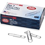 Officemate #1 Non-Skid Paper Clips, 1,000 Clips (10 Boxes of 100 Each) (99912)