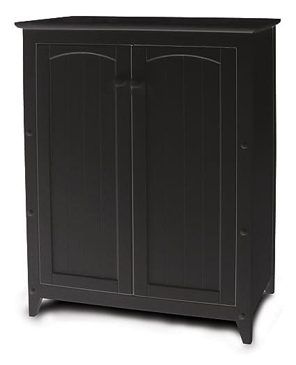 Amazon Com Catskill Craftsmen Black Double Door Cabinet Kitchen