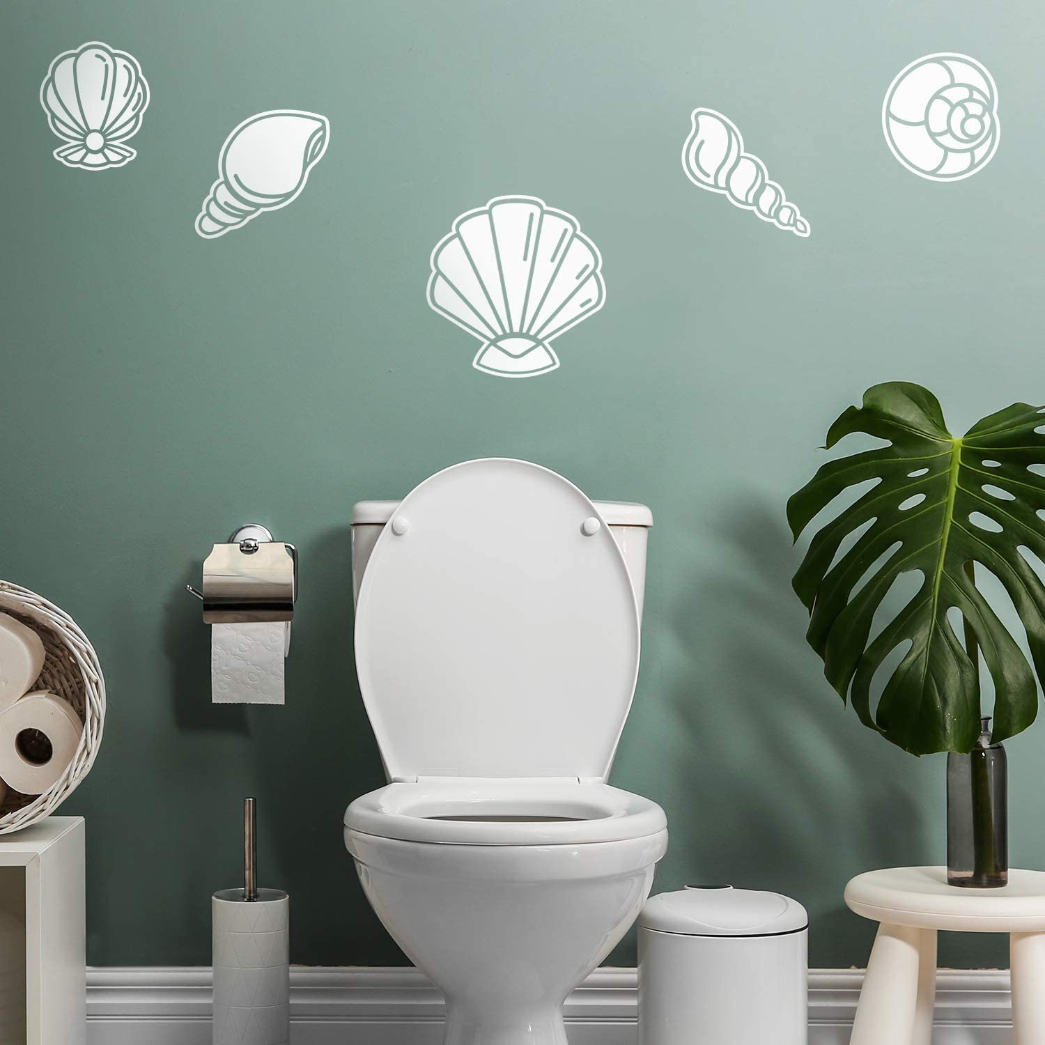 5 Pieces of Vinyl Wall Art Decal - Seashell Set - from 8