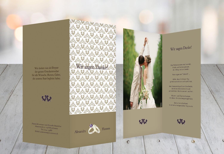 Kartenparadies Danksagung für Hochzeitsgeschenke Hochzeit Danke Ornament mit Herz, hochwertige hochwertige hochwertige Danksagungskarte Hochzeitsglückwünsche inklusive Umschläge   10 Karten - (Format  105x215 mm) Farbe  TürkisGrauMatt B01N4QKAL4 | Tadell 1e1ec7