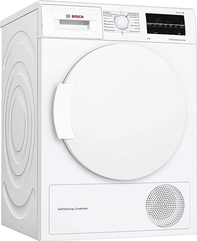 Bosch Serie 6 WTW87641ES - Secadora (Independiente, Carga frontal, Bomba de calor, Blanco, Girato...