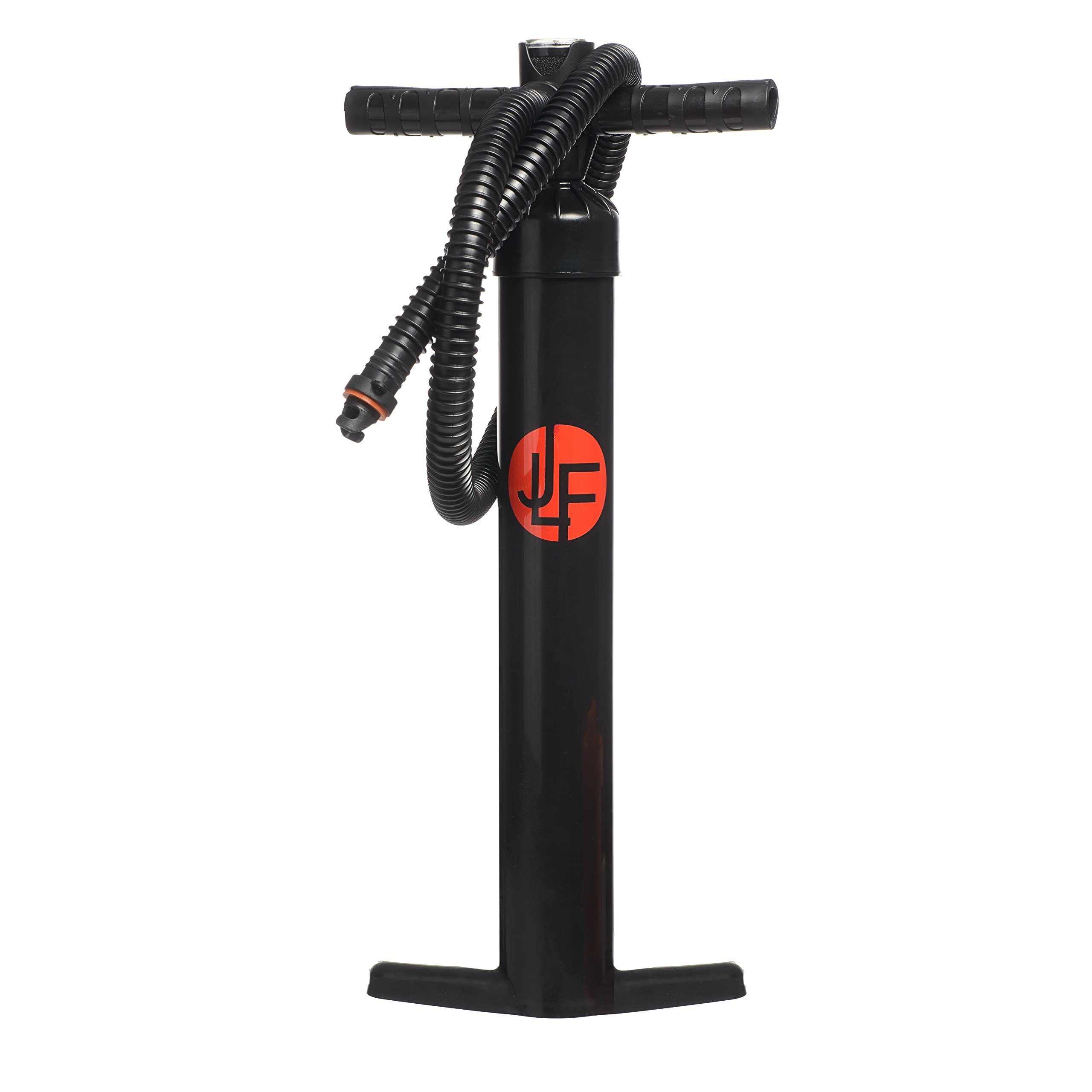 JLF | Dual Action Hand Pump with Pressure Gauge, Hose and Air Valve Adapter | for Inflatable Stand Up Paddle Boards | for 9' 10' 11' 12' SUP Packages | Inflate 12 psi, 15 psi, 20 psi by JLF (Image #1)