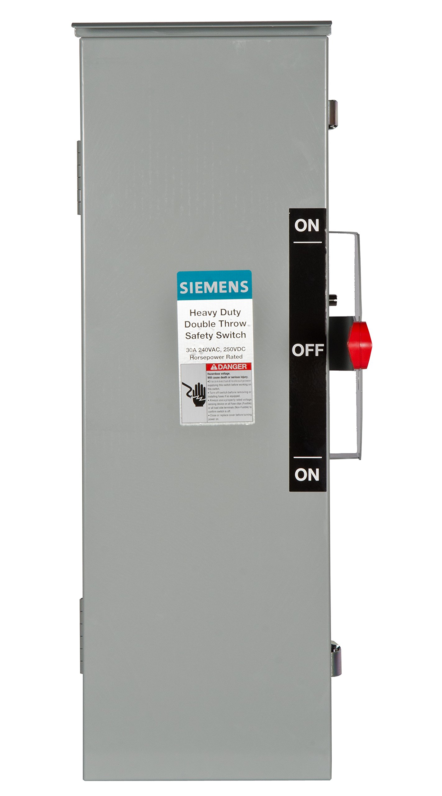 Siemens DTF321R 30-Amp 3 Pole 240-volt 3 Wire Fused Double Throw Safety Switches