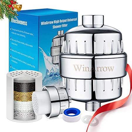 winarrow- shower filter, high output universal replaceable water ...