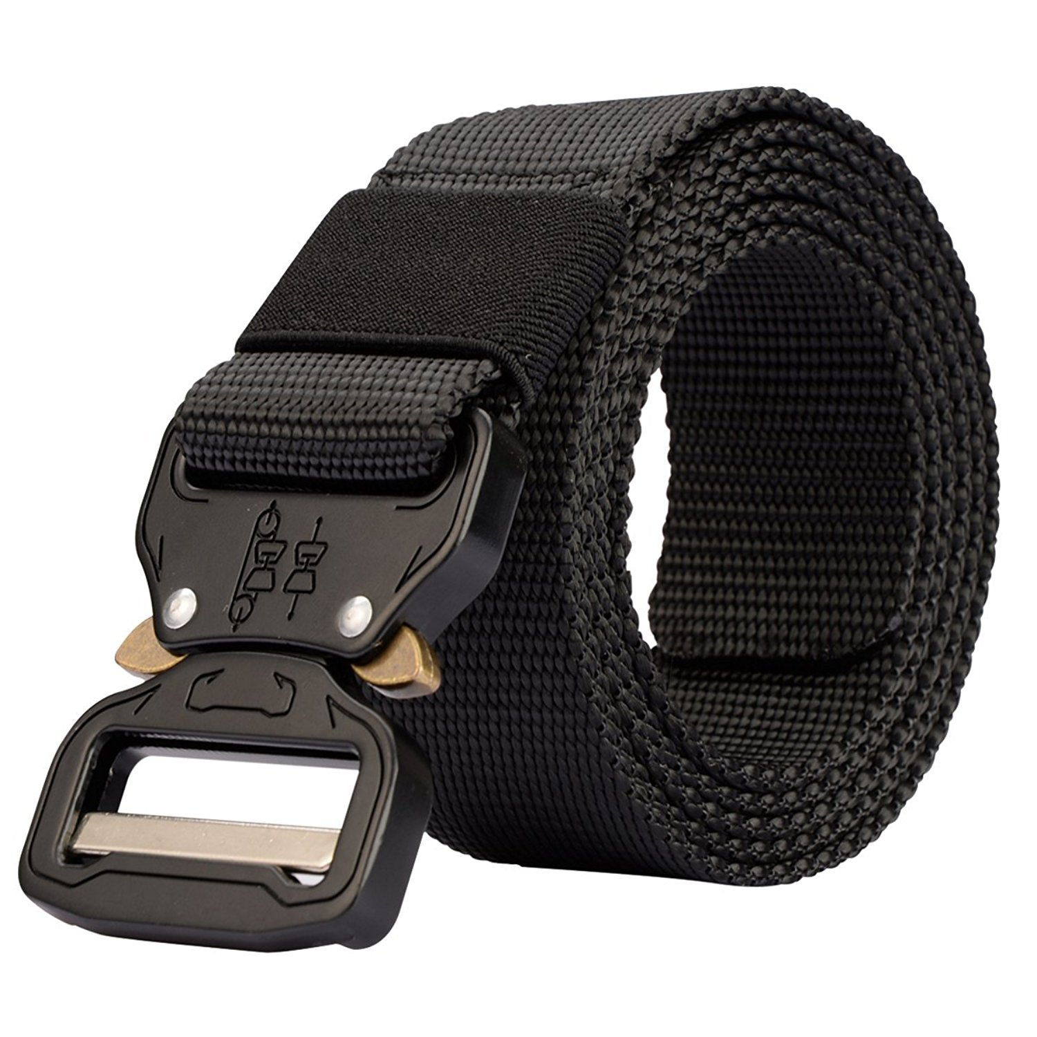 Thickyuan Men's Tactical Belt Heavy Duty Webbing Belt Adjustable Military Style Nylon Belts with Metal Buckle|MOLLE Tactical CQB Rigger|multiple choices