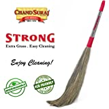 CHAND SURAJ Strong Eco Friendly Extra Grass Floor Broom Stick For Floor Cleaning (Phool Jhadu / Mop)