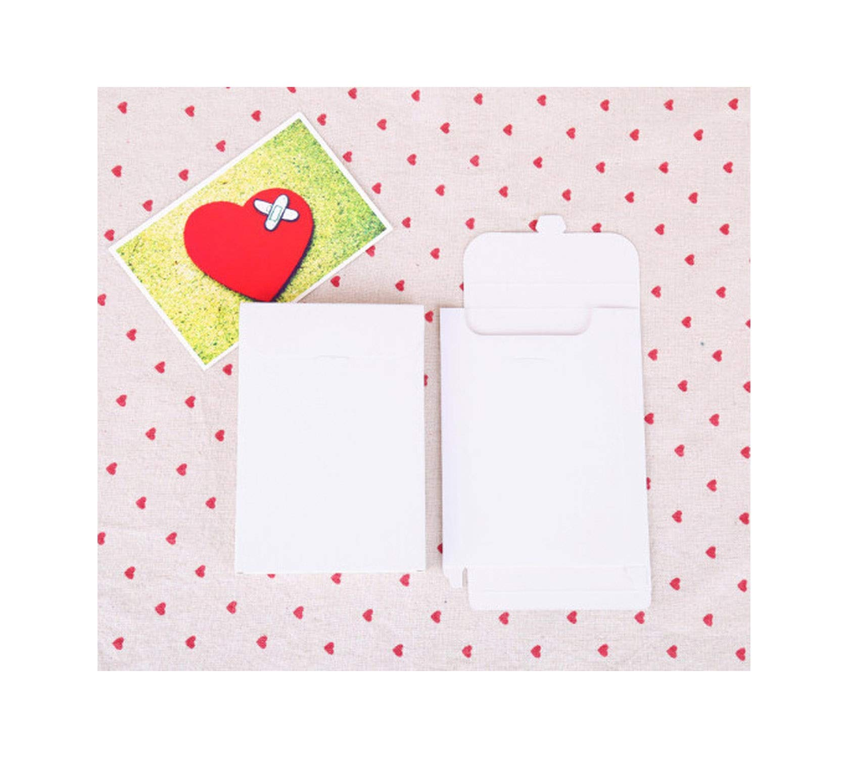 50Pcs/Lot 3 Colors Vintage Blank Kraft Paper DIY Multifunction Envelope,Black Postcard Box,White Package Paper,White,15.5X10.8X1.5Cm