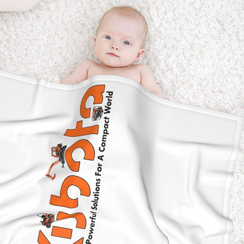 10sdaklasd Kubota Tractor Logo Soft Baby Blanket for Baby Boy Or Girl Black