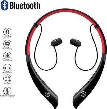 Alta calidad Inalámbrico Auriculares Bluetooth de diadema y micrófono manos libres para iPhone Samsung LG teléfonos sonido estéreo Smart libres de ruido auriculares compatible para PC portátil iPad y etc.: Amazon.es: Electrónica