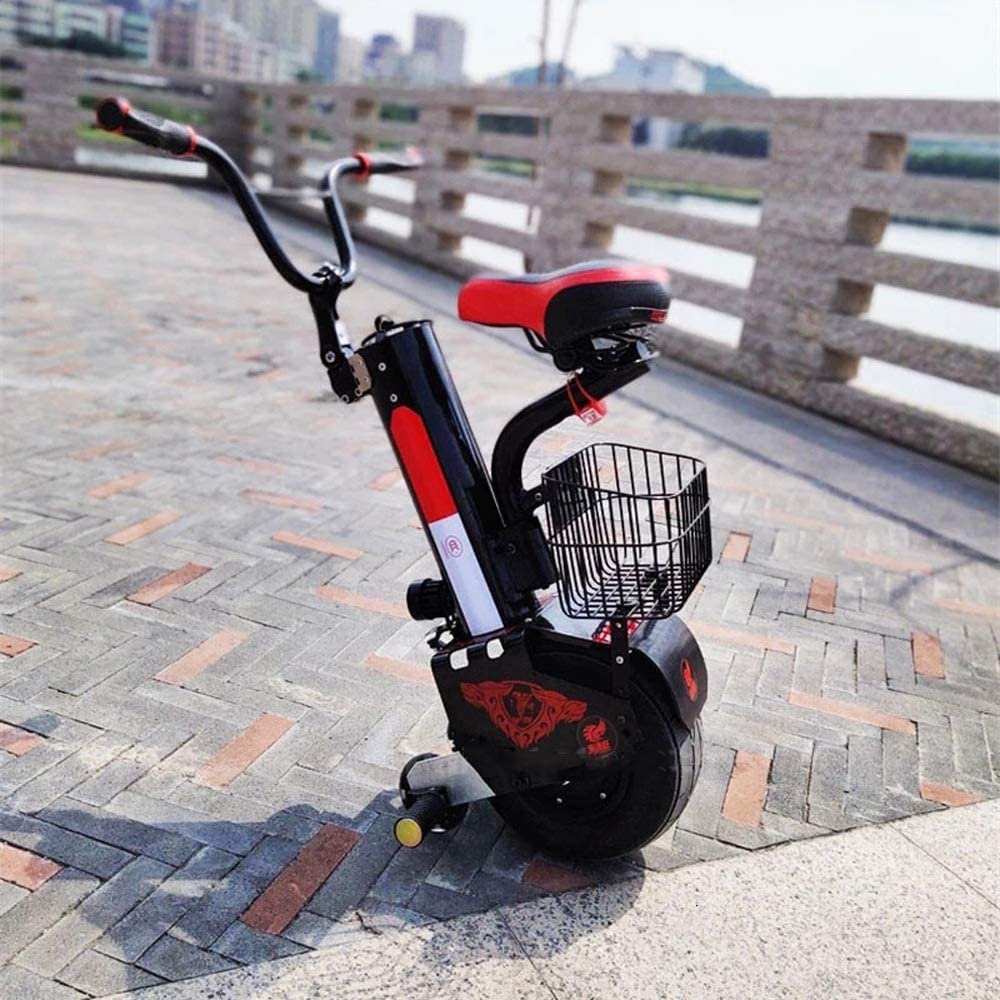 Electric unicycle Single-Wheeled Electric Unicycle Balance Car Battery 500W 10 Inch Smart Self-Balancing Electric Unicycle Scooter Training Wheel with CE Certification ride comfort Size : 45KM