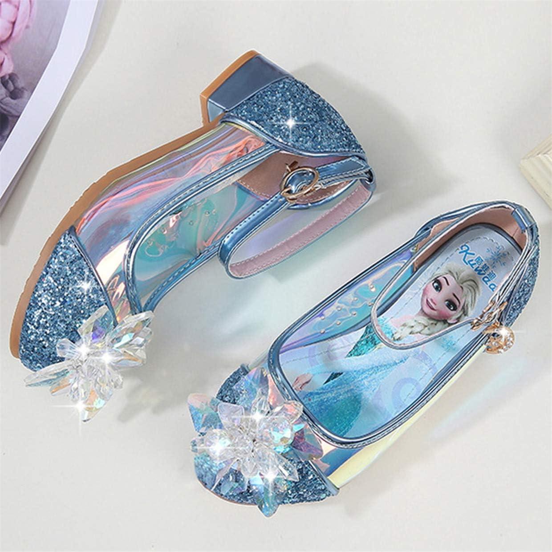 Beunique Cristal Fille Reine des Neiges Sandales /à Talon Cosplay Boucle Princesse Elsa Enfants Chaussures pour D/éguisement Cendrillon Haute Qualit/é C/ér/émonie Soir/ée Ballerines