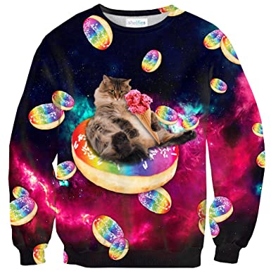 8f4382a02 Donut Cat-astrophy Sweater: Amazon.co.uk: Clothing