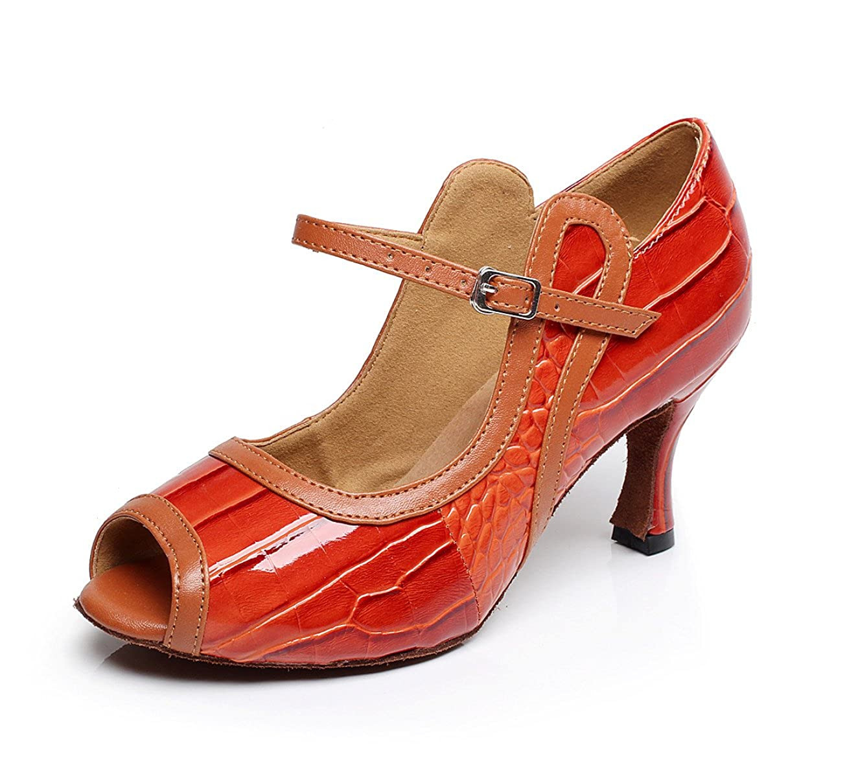 JSHOE Chaussures de Chaussures - Danse Salsa Latin Sandales PU PU Salsa/Tango/Thé/Samba/Moderne/Jazz Sandales Chaussures Talons Hauts,Red-heeled7.5cm-UK2.5/EU32/Our33 - 30b05f4 - boatplans.space
