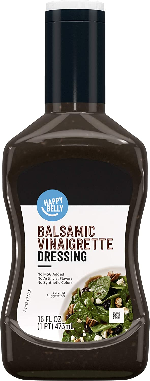 Amazon Brand - Happy Belly Balsamic Vinaigrette Dressing, 16 Fl Oz