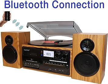 Amazon.com: Boytone BT-28SPW - Tocadiscos con Bluetooth ...