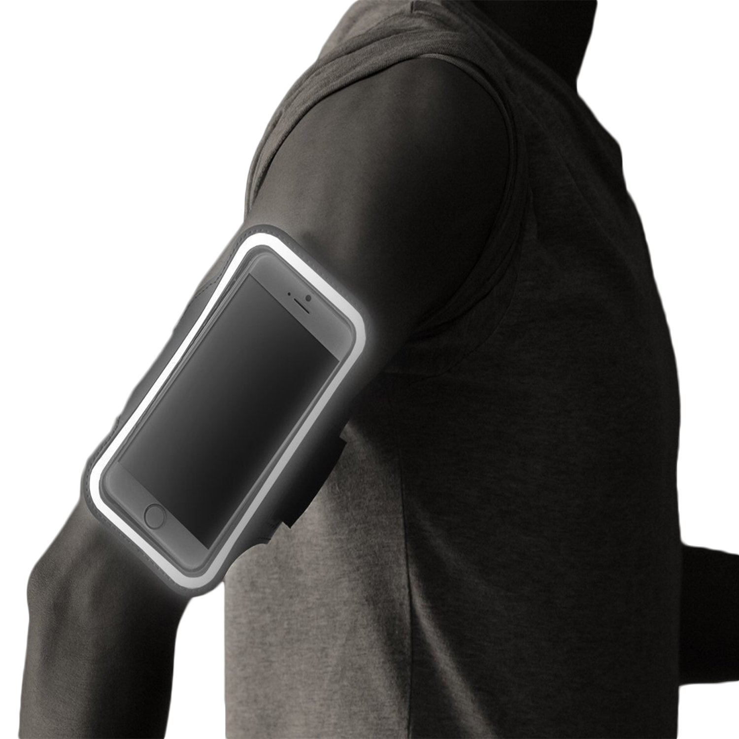 iPhone 7/8 PLUS Running Armband with Fingerprint ID Access. Sports Phone Arm Case Holder for Small 9'' - Large 20'' Arms. Designed for Runners, Gym Workouts & Extreme Exercise by Revere Sport (Image #6)