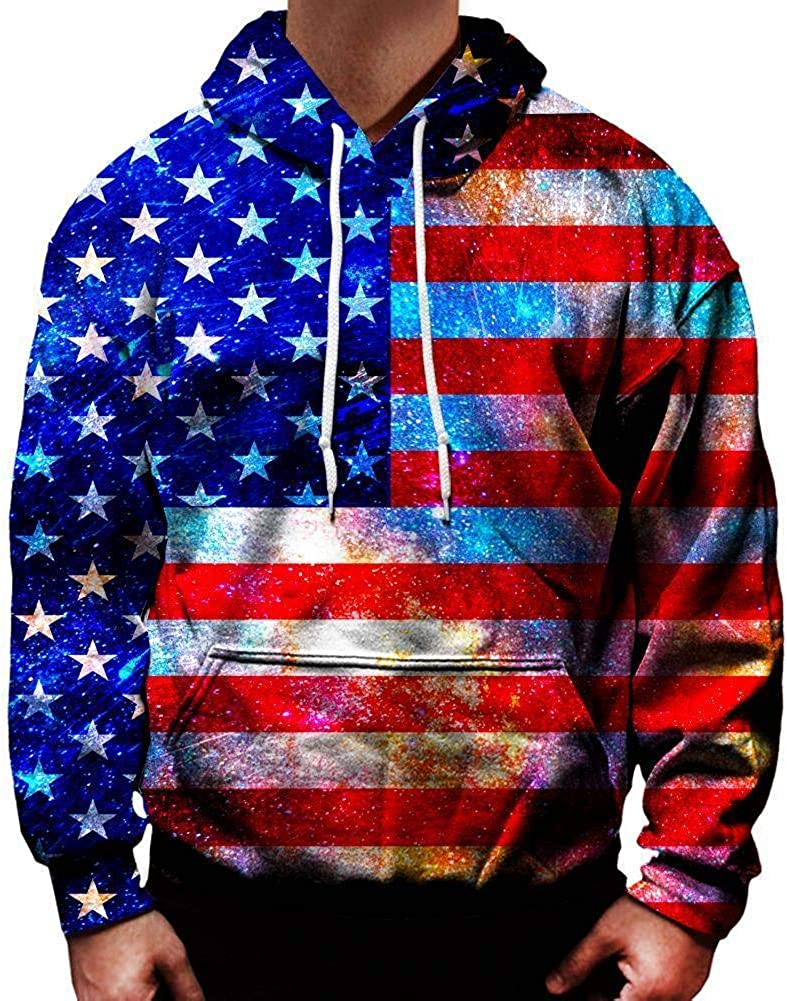 On Cue Apparel American Flag Hoodie