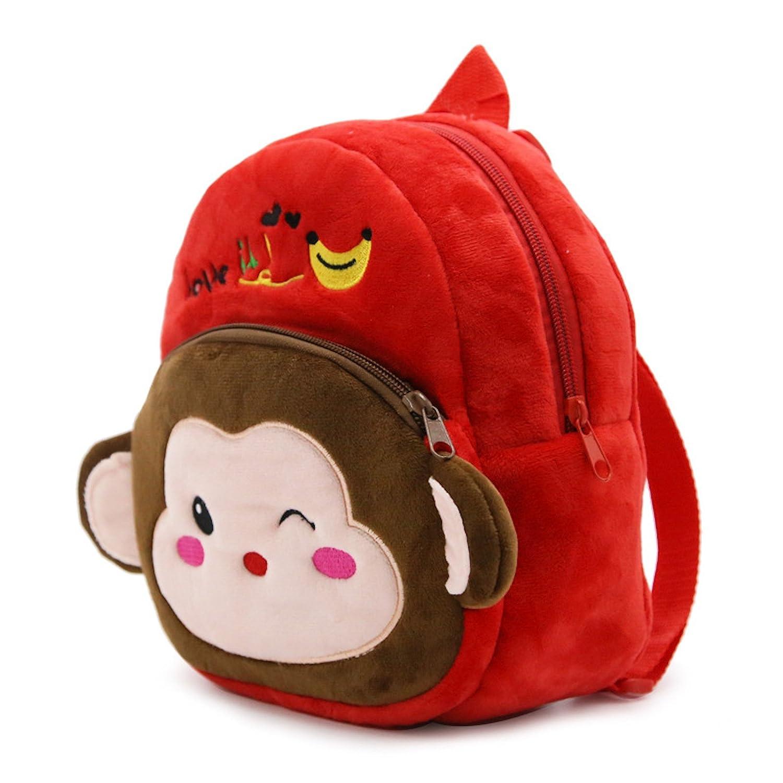 Elonglin Cute Small Toddler Kids Backpack Plush Animal Cartoon Mini Children Bag for Baby Girl Boy Age 1-3 Years Schoolbag for Child Lightweight Strap Rucksack Daypack for Travel Shopping Penguin