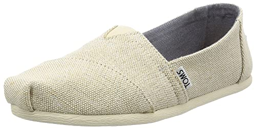 wholesale dealer 52ce3 5a983 Toms Classic Natural Metallic Jute Donne Espadrilles Scarpe ...